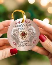 Daddys Girl Circle ornament - single (porcelain) aos-circle-ornament-single-porcelain-lifestyles-08