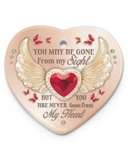Limited Edition Heart ornament - single (porcelain) front