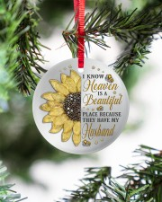 Because They Have My Husband Circle ornament - single (porcelain) aos-circle-ornament-single-porcelain-lifestyles-07