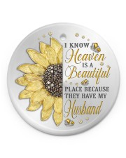 Because They Have My Husband Circle ornament - single (porcelain) front