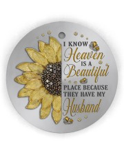 Because They Have My Husband Circle Ornament (Wood tile