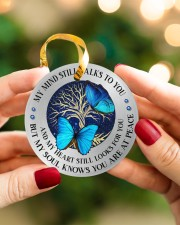 My Mind Still Talks To You Circle ornament - single (porcelain) aos-circle-ornament-single-porcelain-lifestyles-08