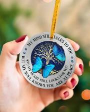 My Mind Still Talks To You Circle ornament - single (porcelain) aos-circle-ornament-single-porcelain-lifestyles-09