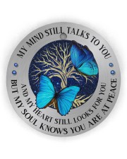 My Mind Still Talks To You Circle Ornament (Wood tile