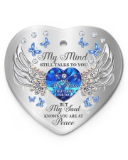 My Mind Still Talk To You Heart ornament - single (porcelain) front