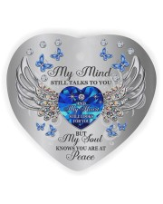 My Mind Still Talk To You Heart Ornament (Wood) tile