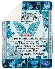 "I Miss Him Large Sherpa Fleece Blanket - 60"" x 80"" thumbnail"