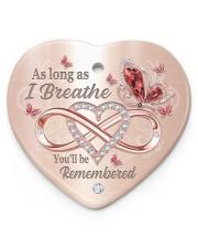 As Long As I Breathe Heart ornament - single (porcelain) front