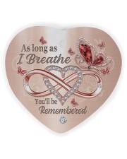 As Long As I Breathe Heart Ornament (Wood) tile