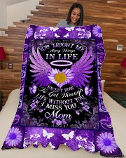 """You Taught Me Large Fleece Blanket - 60"""" x 80"""" aos-coral-fleece-blanket-60x80-lifestyle-front-04"""