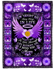 """You Taught Me Large Fleece Blanket - 60"""" x 80"""" front"""