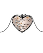 Daddys Girl Metallic Heart Necklace front