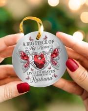 A Big Piece Of My Heart Circle ornament - single (porcelain) aos-circle-ornament-single-porcelain-lifestyles-08