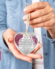 My Beloved Dad Heart ornament - single (porcelain) aos-heart-ornament-single-porcelain-lifestyles-01