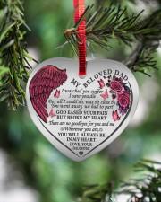 My Beloved Dad Heart ornament - single (porcelain) aos-heart-ornament-single-porcelain-lifestyles-07