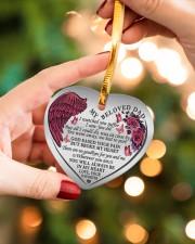 My Beloved Dad Heart ornament - single (porcelain) aos-heart-ornament-single-porcelain-lifestyles-09