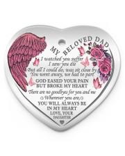 My Beloved Dad Heart ornament - single (porcelain) front