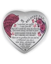 My Beloved Dad Heart Ornament (Wood) tile