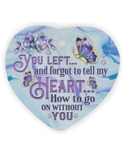 You Left And Forgot Heart Ornament (Wood) tile