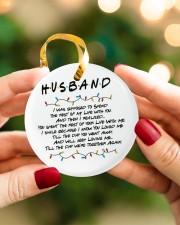 Husband Circle ornament - single (porcelain) aos-circle-ornament-single-porcelain-lifestyles-08