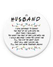 Husband Circle ornament - single (porcelain) front