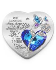 You Taught Me Heart ornament - single (porcelain) front