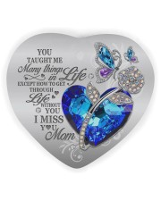 You Taught Me Heart Ornament (Wood) tile