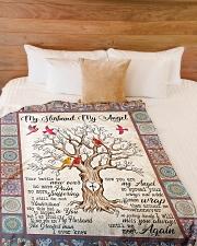 """My Husband My Angel  Large Fleece Blanket - 60"""" x 80"""" aos-coral-fleece-blanket-60x80-lifestyle-front-02"""