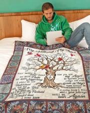 """My Husband My Angel  Large Fleece Blanket - 60"""" x 80"""" aos-coral-fleece-blanket-60x80-lifestyle-front-06"""