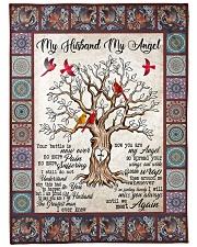 """My Husband My Angel  Large Fleece Blanket - 60"""" x 80"""" front"""