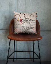 To My Husband In Heaven Square Pillowcase aos-pillow-square-front-lifestyle-04