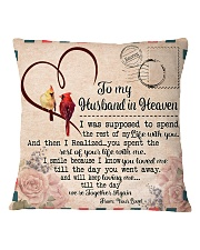 To My Husband In Heaven Square Pillowcase front