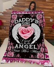 "Daddys Girl  Large Fleece Blanket - 60"" x 80"" aos-coral-fleece-blanket-60x80-lifestyle-front-04"