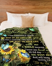 "To My Husband In Heaven Large Fleece Blanket - 60"" x 80"" aos-coral-fleece-blanket-60x80-lifestyle-front-02"