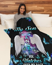 """Limited Edition Large Fleece Blanket - 60"""" x 80"""" aos-coral-fleece-blanket-60x80-lifestyle-front-05"""