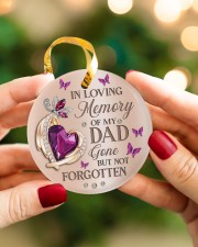 In Loving Memory Of My Dad Circle ornament - single (porcelain) aos-circle-ornament-single-porcelain-lifestyles-08