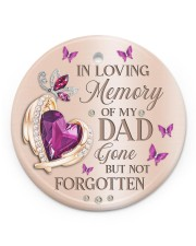 In Loving Memory Of My Dad Circle ornament - single (porcelain) front