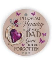 In Loving Memory Of My Dad Circle ornament - single (wood) thumbnail