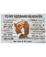 To My Husband In Heaven 17x11 Poster front