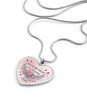 Half Of My Heart Metallic Heart Necklace aos-necklace-heart-metallic-lifestyle-05