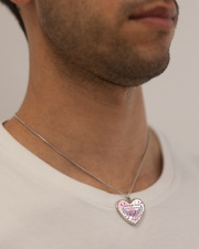 Half Of My Heart Metallic Heart Necklace aos-necklace-heart-metallic-lifestyle-2