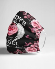Daddy's Girl I Used To Be His Angel Now He's Mine Cloth face mask aos-face-mask-lifestyle-21