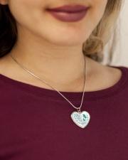 My Mind Still Talks To You Metallic Heart Necklace aos-necklace-heart-metallic-lifestyle-1