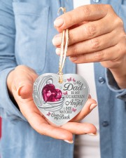 My Dad Is My Guardian Angel Heart ornament - single (porcelain) aos-heart-ornament-single-porcelain-lifestyles-01