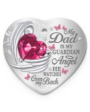 My Dad Is My Guardian Angel Heart ornament - single (porcelain) front