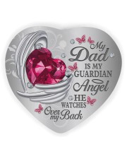 My Dad Is My Guardian Angel Heart Ornament (Wood) tile
