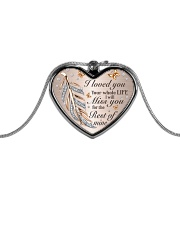 I Loved You Metallic Heart Necklace front