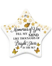 Memories Of You Star ornament - single (porcelain) front