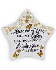 Memories Of You Star Ornament (Wood) tile