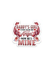 Daddy's Girl I Used To Be His Angel Now He's Mine Sticker - Single (Horizontal) front